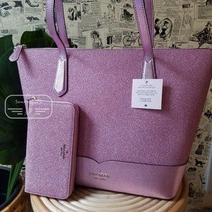 Kate Spade Lola Tote Pink Rose Continental Wallet